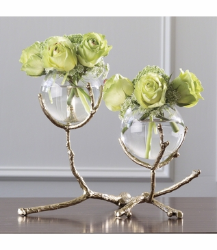 Branches Double Vase | Brass