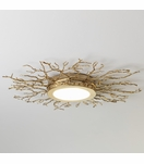 Branches Flush Mount | Brass