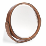 Brennan Leather Desk Mirror | Saddle