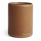 Brennan Leather Pencil Cup | Saddle