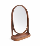 Brennan Leather Vanity Mirror | Saddle