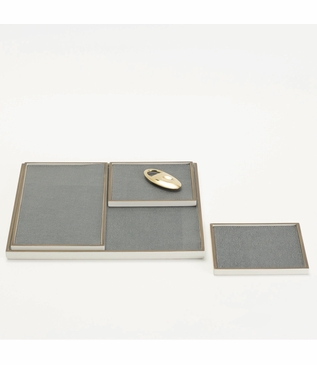 Brentwood Leather Inset Trays | Slate