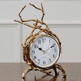 Briar Desk Clock | Brass