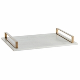 Brogan Tray | White Marble & Brass