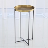 Bryson Grid Side Table | Antique Brass