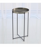 Bryson Grid Side Table | Blackened Nickel