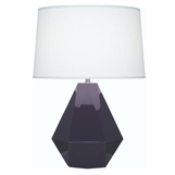 Burke Ceramic Lamp | Purple