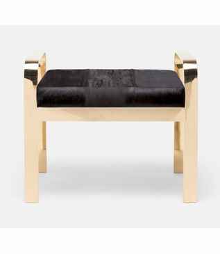 Cadiz Bench | Gold & Brown Hide