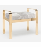 Cadiz Bench | Gold & Grey Hide