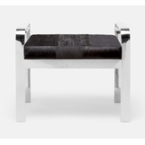Cadiz Bench | Silver & Brown Hide