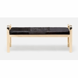 Cadiz Double Bench | Gold & Brown Hide