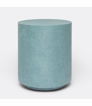 """Caicos """"Linen"""" Stool   Turquoise"""