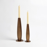 Camille Candlesticks | Pale Bronze