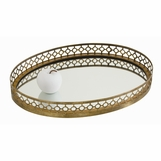 Canaan Oval Tray | Brass