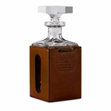 Cantwell Crystal & Leather Decanter