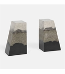 Capo Bookends | Grey & Black Sand