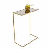 Carlo Rectangular Side Table | Gold