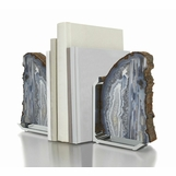 Carlsbad Agate Bookends | Nickel