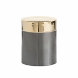 Carraway Metallic Ceramic Jar | Round