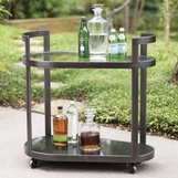 Carter Bar Cart | Aged Iron