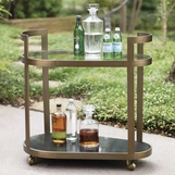 Carter Bar Cart | Antique Brass