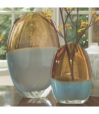Caruso Oval Glass Vases