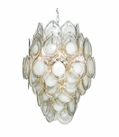 Cascada Glass Chandelier | Smoke