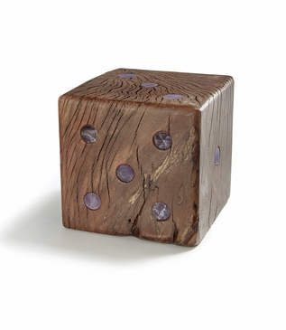 Casino Wooden Dice Object | Amethyst