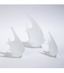 Caspian Glass Fish Sculptures | Frosted