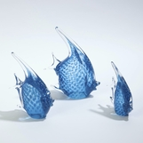 Caspian Glass Fish Sculptures | Blue