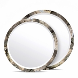 Catherine Shell Mirrors | Smoky MOP