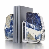 Caverna Bookends | Blue & Silver