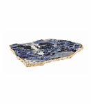 Caverna Stone Slab Tray | Blue & Gold