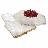 Caverna Stone Slab Trays | Crystal
