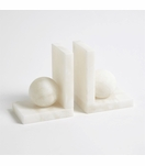 Cazi Alabaster Sphere Bookends