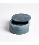 Cazi Alabaster Swivel Box | Blue