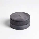Cazi Alabaster Swivel Box | Grey