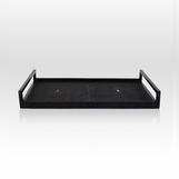 Cebu Shagreen Tray | Black