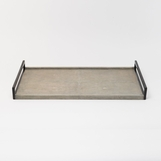 Cebu Shagreen Tray | Light Grey