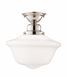 Charles Large Flush Mount | Polished Nickel