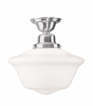 Charles Large Flush Mount | Satin Nickel