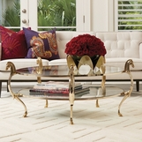Chevaux Brass Coffee Table Table