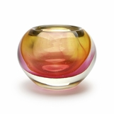 Chico Glass Bowl | Amber & Pink