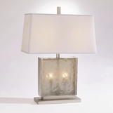 Chipper Glass Lamp | Nickel