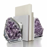 Chrysalis Amethyst Bookends