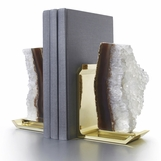 Chrysalis Stone Bookends | Brass