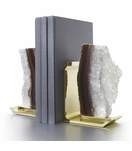 Chrysalis Agate Bookends | Brass