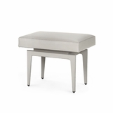 Churchill Leather Stool | Grey