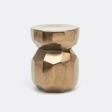 Cibola Ceramic Stool | Gold