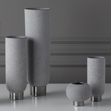 Cinder Ceramic Vases | Grey